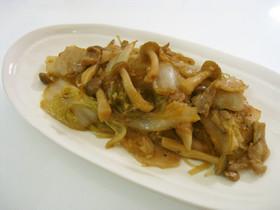 白菜と豚バラ肉のオイスター炒め煮