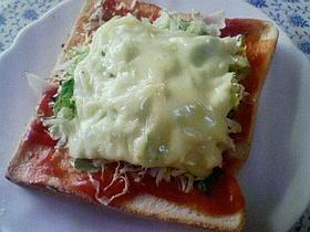 ♪簡単キャベツチーズケチャップトースト