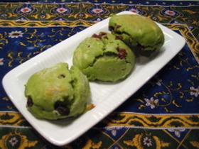 抹茶スコーン(チョコと小豆)