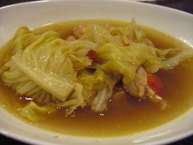 春キャベツカレースープ