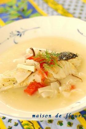 白身魚のクリーム煮