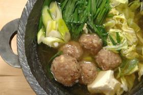 肉団子入り☆中華風のお鍋