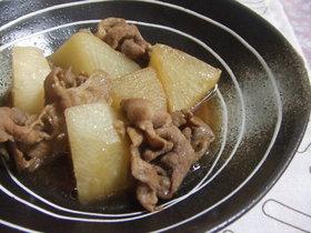 豚小間と大根の煮物