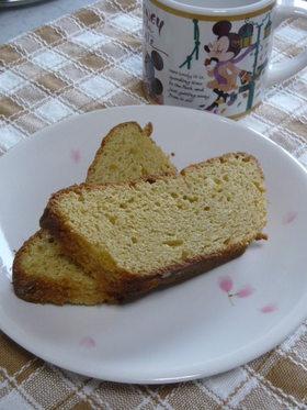 カスタード風味のパウンドケーキ