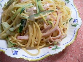 サラダスパゲティ、にマヨケチャ♪