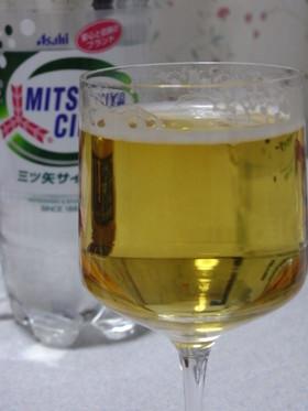 ビールとサイダーでシャンディーガフ風☆