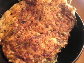 水菜と山芋と明太子のチヂミ