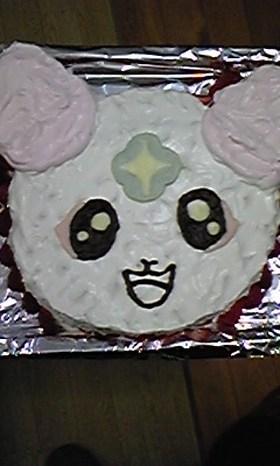 フレッシュプリキュアのシフォンのケーキ