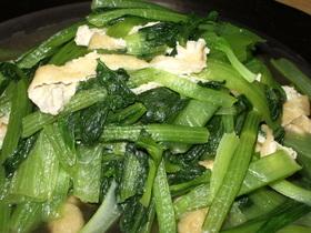 簡単&定番☆小松菜と薄揚げの炒め物