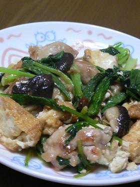 鶏肉と小松菜の甘辛炒め