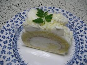 ♪クリームたっぷりロールケーキ♪
