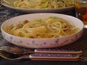 春キャベツとツナと納豆の和風スパゲティ