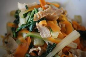 新ニンジンと錦菜の炒め煮