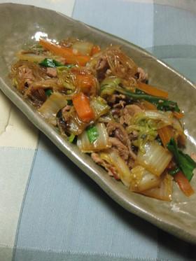 春雨とあるもの野菜の中華煮込み。