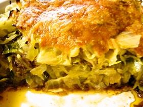 キャベツとひき肉の重ね焼き