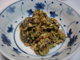 マクロビ 椎茸のピリ辛胡麻和え