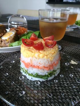 ☆鮭とジャガイモの押し寿司☆