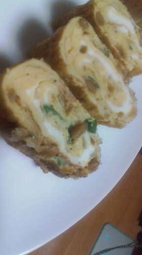 栄養満点☆青海苔と納豆の玉子焼き