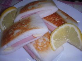 はんぺんバター焼き(ハム・チーズ)
