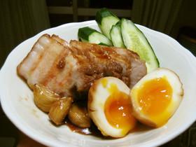 簡単焼豚(半熟卵入り)