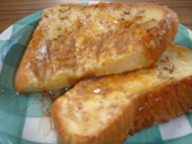 豆乳でヘルシー♥フレンチトースト♥