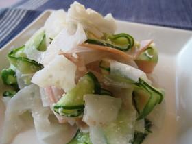 ✿れんこん+粉チーズ✿マリネ風サラダ