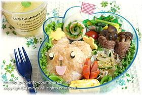 ポケモンのミミロル弁当:キャラ弁