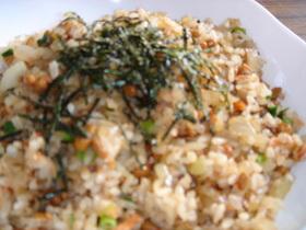 ✿納豆&鮭チャーハン✿