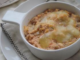 納豆キムチで山芋風☆おからのチーズ焼き