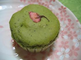 卵・油なし☆桜抹茶マフィン