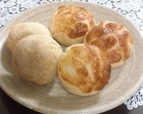 発酵いらず♪ソーセージとチーズのパン