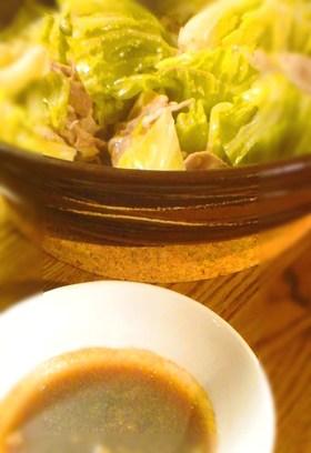蒸し春キャベツと、胡椒酢醤油