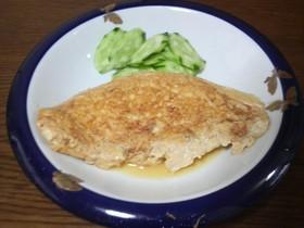 1人のお昼に。超簡単な和風豆腐オムレツ