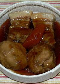 圧力鍋で、八頭芋入り豚の角煮