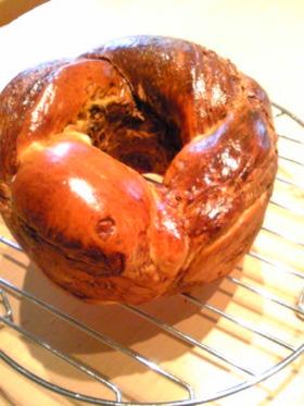 チョココーヒーシートで折り込みパン