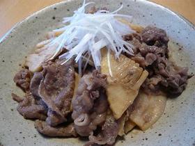 牛肉と筍の味噌炒め♪