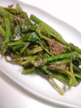 油菜コンビのマヨ炒め