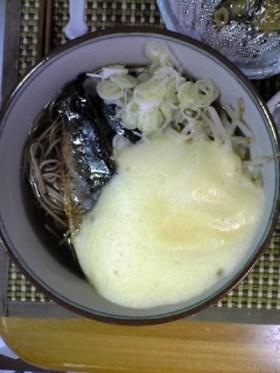 卵ふわふわ蕎麦