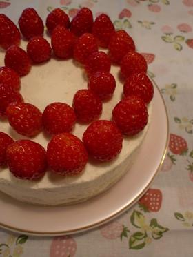 苺のショートケーキ。