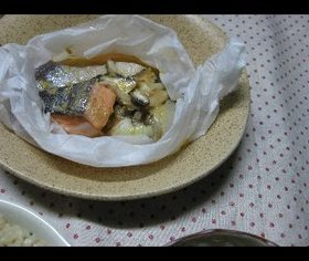 ☆鮭と新たまねぎの味噌蒸し☆