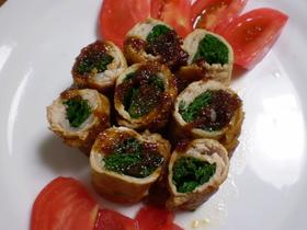 お弁当のお菜にも!ニラ巻き豚肉の生姜焼き