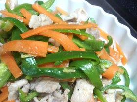 豚肉の色取り野菜炒め