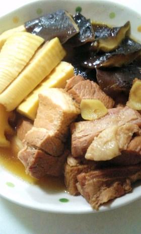 タケノコ✿シイタケ入り✿豚の✿角煮