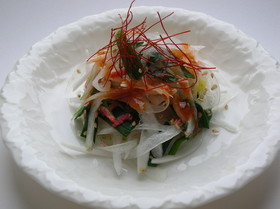 春限定☆やわらか新玉ねぎとワケギのサラダ