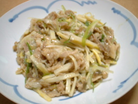 筍と豚肉とザーサイの炒め物