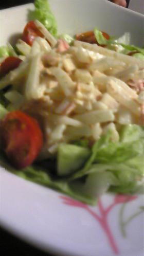 大根がぽりぽりいける(^u^)大根サラダ