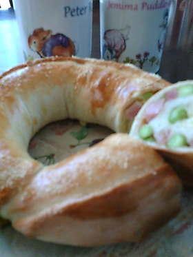 ベーコン☆枝豆☆チーズの田舎パン