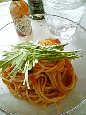 ♡ベーコンと新たまねぎのトマトパスタ♡