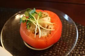 ホタテのジェノバ風サラダ