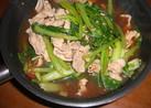 青菜と豚肉の味噌煮鍋